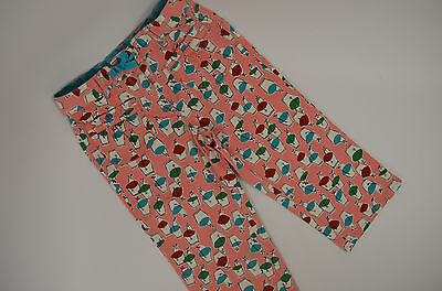 Mini Boden Girls 8 Y Printed Baggies Capri length - Pink - adjustable waist