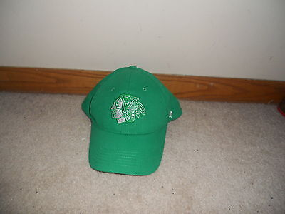 5a9f301371c83 Chicago Blackhawks NHL Hockey Hat Cap St Patty s Day Green Snapback SGA  Kelly Gr