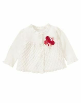 9ee6ca51523 Gymboree Adorable Fox White Flower Cardigan Sweater Baby Girls 18-24 months  NWT