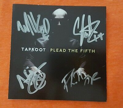 Taproot Cd Booklet Band Signed Plead The Fifth Autograph