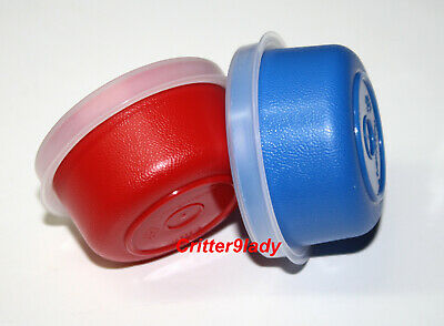 NEW Tupperware Lot of 2 Smidgets in Blue and Red