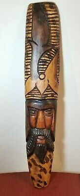 Jamaican Wooden Hand-Carved Wall Art
