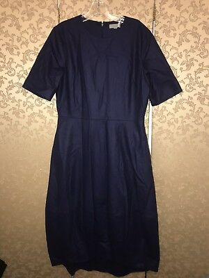 e643007d0 COS Collection of Style NWT Navy Blue Navy Hi Low with Cocoon Skirt Dress 12