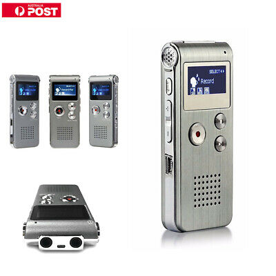Voice Activated Mini Spy Digital Sound Audio Recorder Dictaphone MP3 R8G4N 8GB