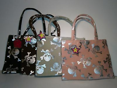 skull and bones Lot of 4 kid purse Super Star NEW Halloween Cosmetic purse