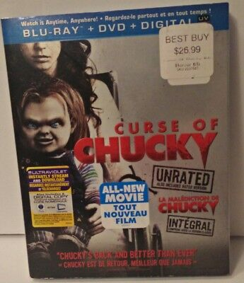 Curse of Chucky (Blu-ray/DVD, 2013, 2-Disc Set, Canadian) w/Slipcover
