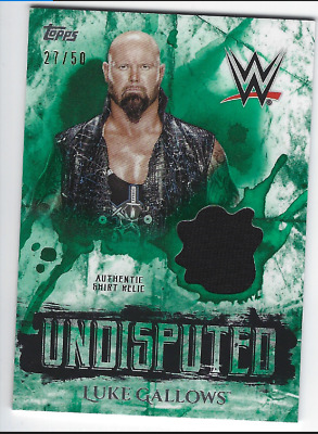 Luke Gallows 2018 Topps Wwe Undisputed Authentic Shirt Relic Green /50
