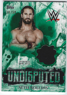 Seth Rollins 2018 Topps Wwe Undisputed Authentic Shirt Relic Green /50