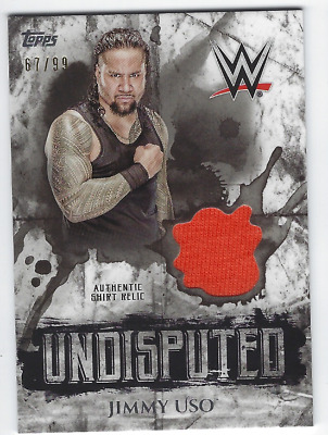 Jimmy Uso 2018 Topps Wwe Undisputed Authentic Shirt Relic /99