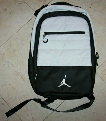 55771e5406 NIKE AIR JORDAN Airborne 9A1944-R79 Laptop Backpack Gym Red Heather ...