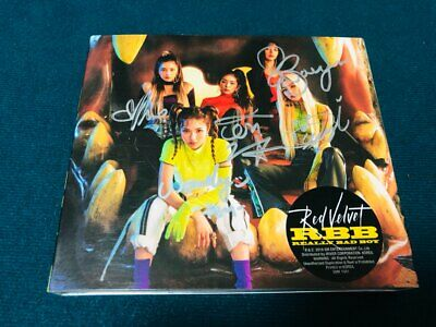 RED VELVET [Really Bad Boy]  Album Autograph ALL MEMBER Signed PROMO
