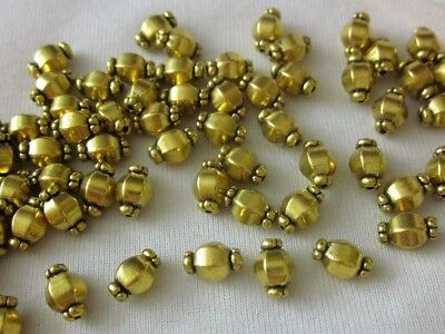 50 Antique Gold Coloured 10mm x 7mm Tibetan Style Spacer Beads #sp3175 Findings