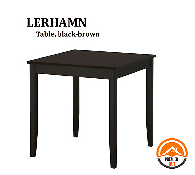 Tremendous Ikea New Lerhamn Table Black Brown Solid Pine Material Home Ncnpc Chair Design For Home Ncnpcorg