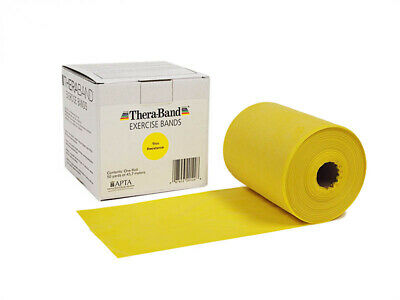 1 Yellow Thera-Band, Theraband Resistance Band, 6 Feet + Free Shipping !
