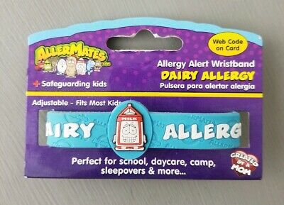 AllerMates DAIRY Allergy Wristband Alert Medical ID Silicone Safety Bracelet
