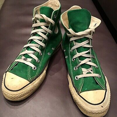 super quality famous brand the best attitude VINTAGE KELLY GREEN Converse Made in USA - Size 7 Rare ...