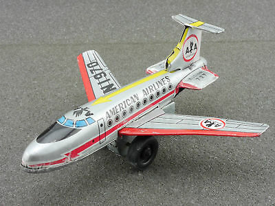 Ichimura Japan Boeing 727 AA American Airlines tin Airplane 1604-25-12