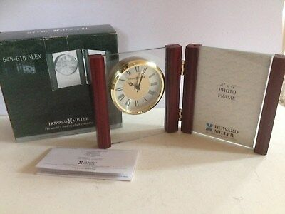 Brand New Howard Miller Mantle Clock With 4 X 6 Photo Frame