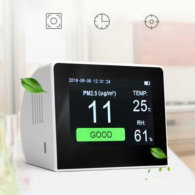 "3.5"" LCD Digital Gas Monitor Air Quality Gas Analyzer Laser PM2.5 Humidity Meter"