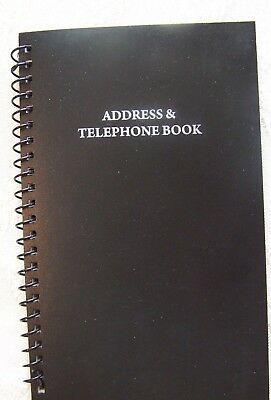 Address & Telephone Book Holds 400 Entries W/Name, Address,Home,Cell phone,Email