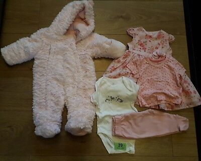 Bundle Girls Pink Yellow Cardis Cardigans Joblot Pretty 0-3 Months Mths Baby 3-6 Baby & Toddler Clothing