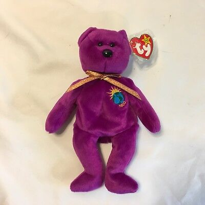 b6c597ccc34 Ty Beanie Baby Millennium Bear AUTHENTIC Rare Retired Misspelled Name on  Ear Tag