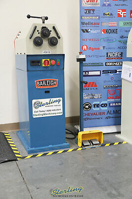 """3/4"""" x 3/4"""" x 1/8"""", Used (Demo Machinery) Baileigh Ring & Angle Roll Bender, Mdl"""