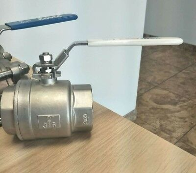 "1/2"" NPT Full Port Ball Valve  Female Threaded SS316 Stainless Steel Guardian"