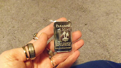""" Paradise Mint"" One Troy Ounce .999 Fine Silver Bullion  ""hard To Find"" N/r"