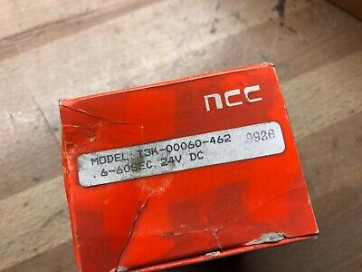 NCC NATIONAL CONTROLS AC Time Delay Relay Timer .6-60 Sec 120V T3K-00060-462-NEW