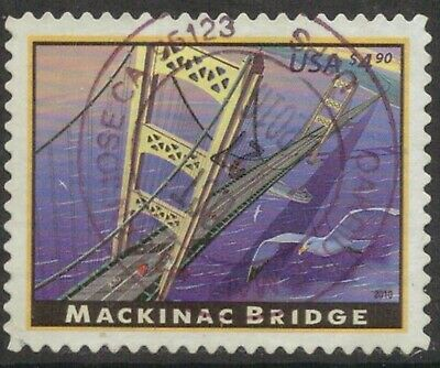 Scott #4438 Used Single, Mackinac Bridge (Off Paper)