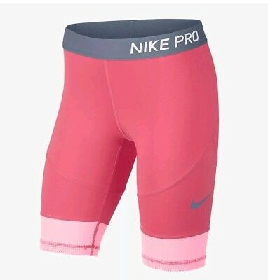 Older Girls NIKE compression running  gym dance SHORTS 9 -10 years 939003 614
