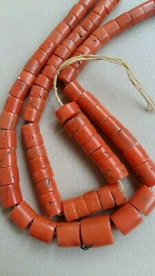 Natural SOLOMON CORAL BEADS  Antique natural Сoral Undyed, 64 grams