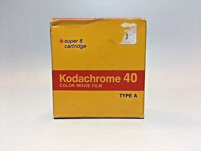 Vintage Kodachrome 40 Color Movie Film For Super 8 Cartridge Cameras Type A 50ft