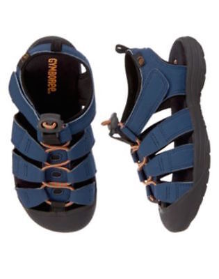 Gymboree Rock the Waves Navy Blue Sport Water Sandals Shoes Boys 8 NEW NWT