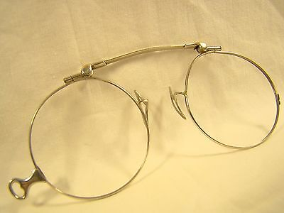 Vintage Antique Chadco 14 K Yellow Gold Lorgnette Opera Glasses Frames Rare