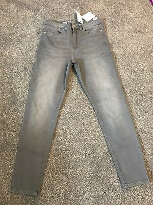 M/&S Soft White High Rise Super Skinny Jeans Size 6 S BNWT Free Sameday Postage