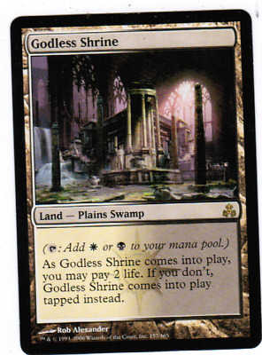 1 PLAYED Godless Shrine Land Gatecrash Mtg Magic Rare 1x x1