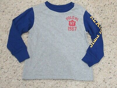 Ralph Lauren Polo Toddler Boys Long Sleeve Shirt NY Athletic State Champs 2T