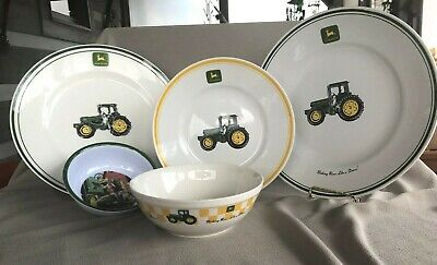 Lot Of 5 - John Deere Plates And Bowls
