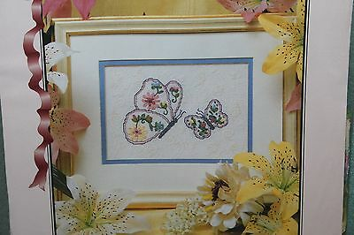 BUTTERFLIES Ribbon Embroidery Kit TRUE COLORS
