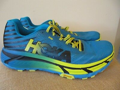uk availability ef1a9 f54cb HOKA ONE ONE Evo Mafate Cyan Citrus Trail Running Shoes, Men Us 11 Euc