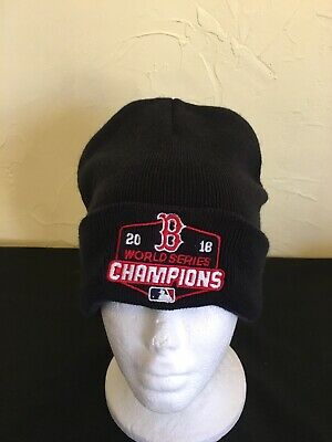 0a1f321c9baee BOSTON RED SOX 2018 World Series Champions Red Winter Skull Hat KNIT ...