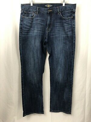 da84566b Lucky Brand 361 Vintage Straight Men Blue Jeans Tag Sz 38X34 Actual 38x33  Hemmed