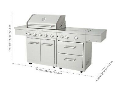 Kitchenaid Stainless Steel 8 Burner Grill 1180 Sq In