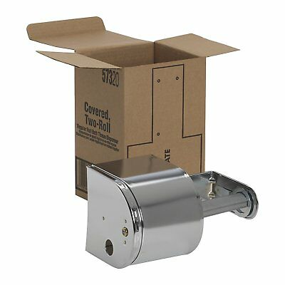 Georgia Pacific Toilet Paper Covered Two 2 Roll Dispenser 57320 with Key Lock
