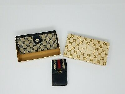 136ef45336c Vintage Gucci Womens Wallet And Cigarette Case With Box- All Original