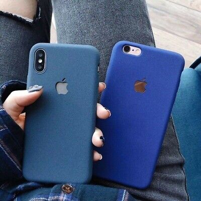 For iPhone XS Max XR 8 7 Plus 6s 6 Shockproof Slim Soft TPU Sandstone Matte Case