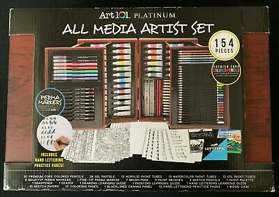 Art 101 Platinum All Media Artist Set 154-Pieces NEW