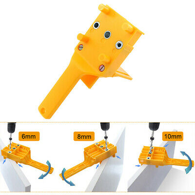 6 8 10mm Dowel Drilling Jig Set Woodworking Drilling Guide Hole Locator Durable